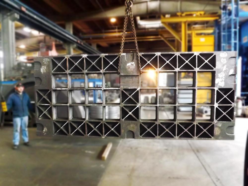 Bâti – support en EN-GJL300<br>kg. 6.500